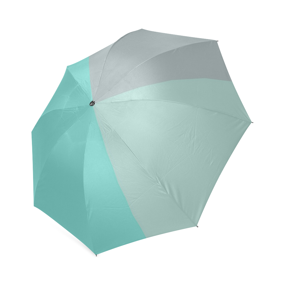 Grey with Teal Accents Foldable Umbrella (Model U01)