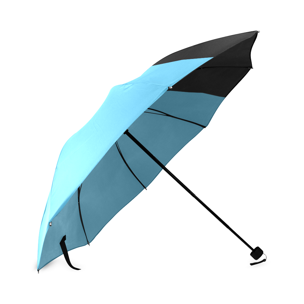 Retro in Teal Neon Foldable Umbrella (Model U01)