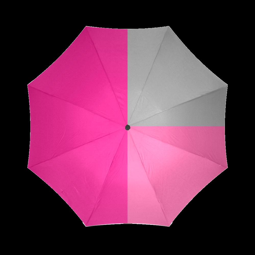 Pink Statement Foldable Umbrella (Model U01)