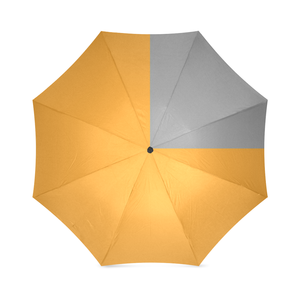 Retro in Orange Foldable Umbrella (Model U01)