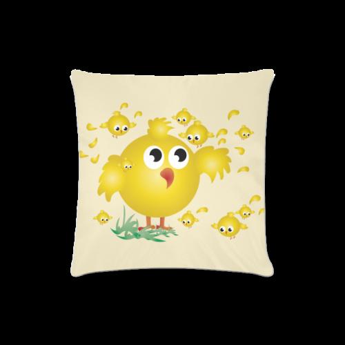 "Chicks Custom Zippered Pillow Case 16""x16""(Twin Sides)"