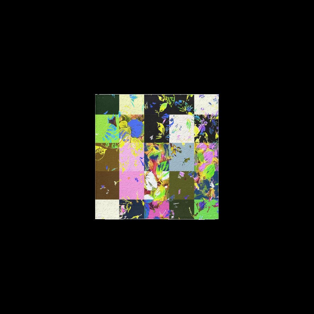 """Foliage Patchwork #3 - Jera Nour Square Towel 13""""x13"""""""