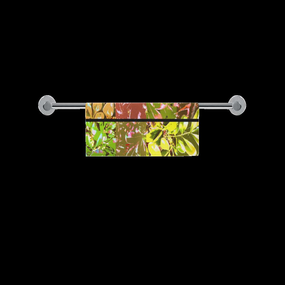 """Foliage Patchwork #5 - Jera Nour Square Towel 13""""x13"""""""