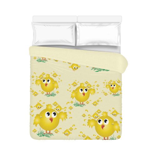 "Chicks Duvet Cover 86""x70"" ( All-over-print)"
