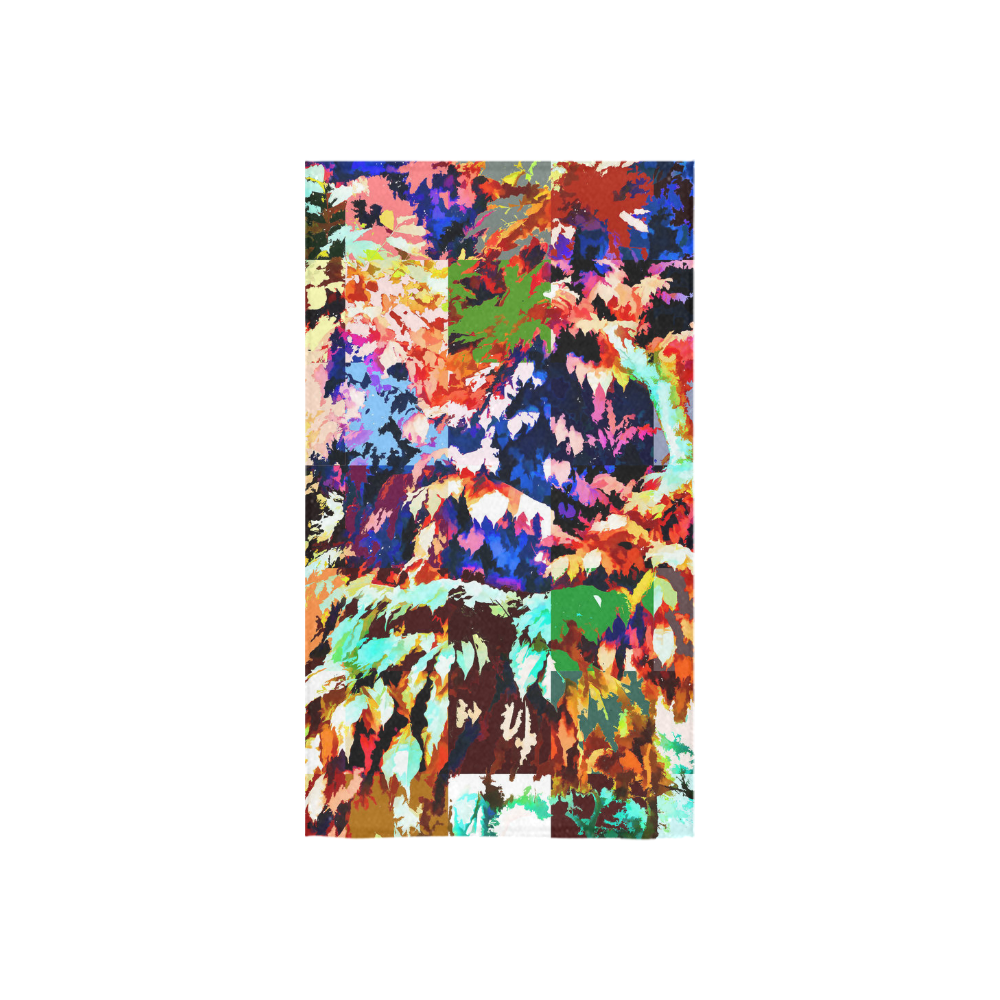 "Foliage Patchwork #7 - Jera Nour Custom Towel 16""x28"""