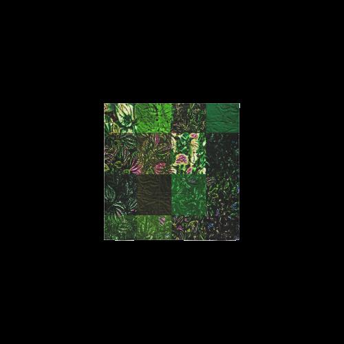 """Foliage Patchwork #1 - Jera Nour Square Towel 13""""x13"""""""