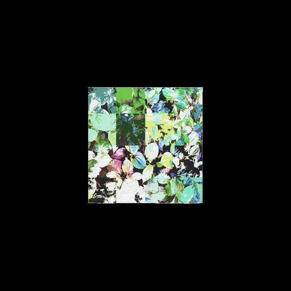 """Foliage Patchwork #2 - Jera Nour Square Towel 13""""x13"""""""