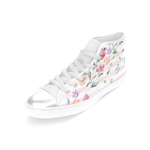 Delicate Wildflowers Women's Classic High Top Canvas Shoes (Model 017)