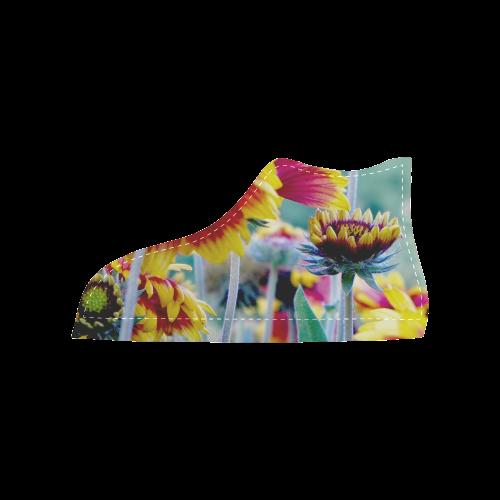 Gerbera Women's High Top Canvas Shoes (Model 002)