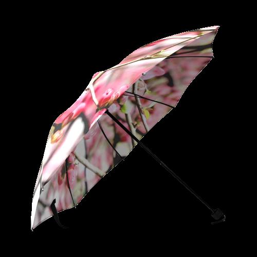 Pink Floral Foldable Umbrella (Model U01)