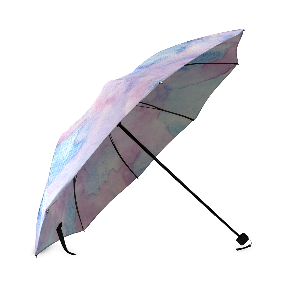 Chantant Violettes Foldable Umbrella (Model U01)