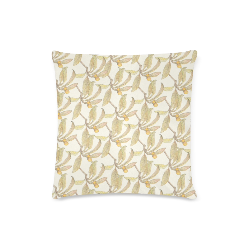 "Natural Style Custom Zippered Pillow Case 16""x16""(Twin Sides)"