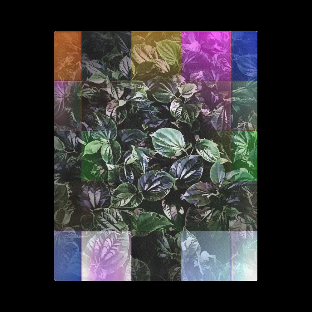 "Foliage Patchwork #13 - Jera Nour Duvet Cover 86""x70"" ( All-over-print)"