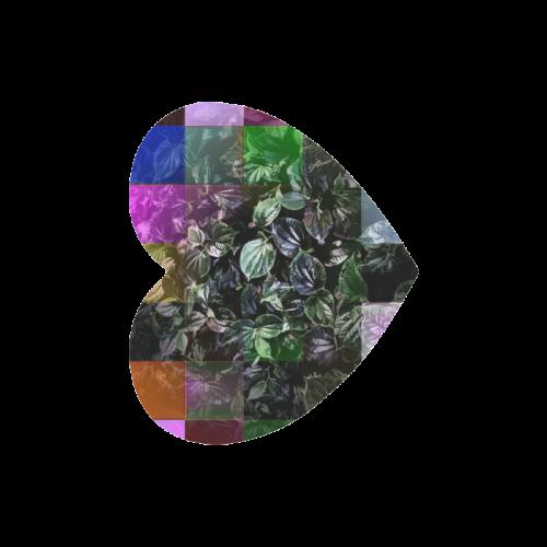 Foliage Patchwork #13 - Jera Nour Heart-shaped Mousepad