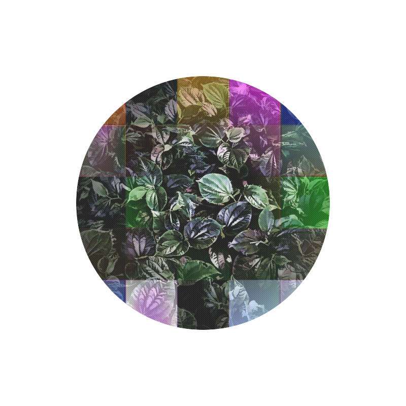 Foliage Patchwork #13 - Jera Nour Round Mousepad