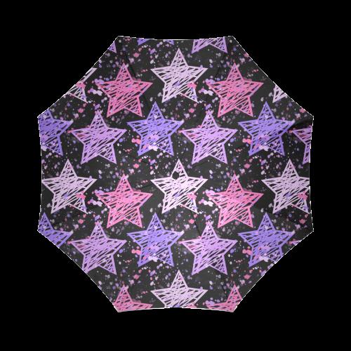 Painted Stars Foldable Umbrella (Model U01)