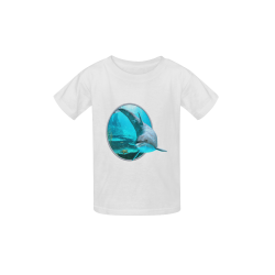 A proud dolphin swims in the ocean Kid's  Classic T-shirt (Model T22)