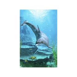 """A proud dolphin swims in the ocean Poster 11""""x17"""""""
