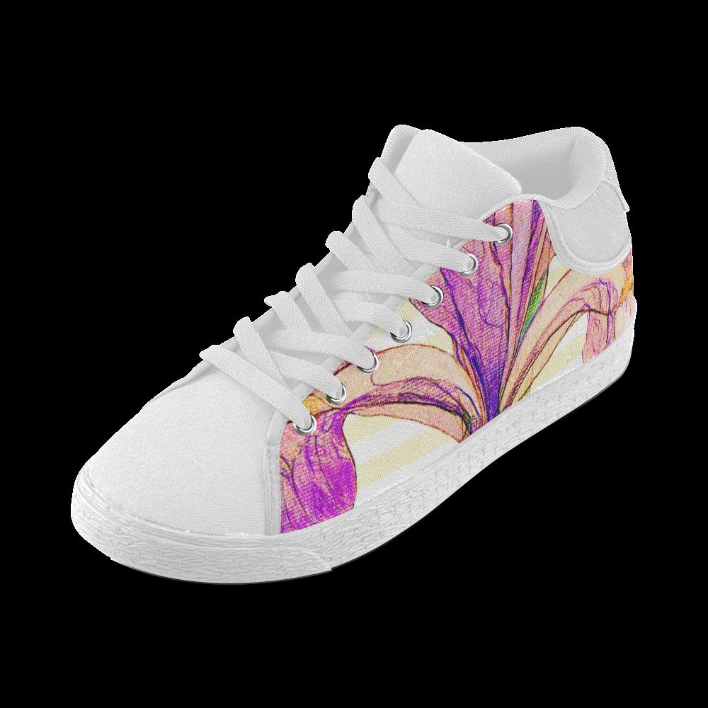 Purple Iris Women's Chukka Canvas Shoes (Model 003)