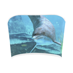 A proud dolphin swims in the ocean Bandeau Top