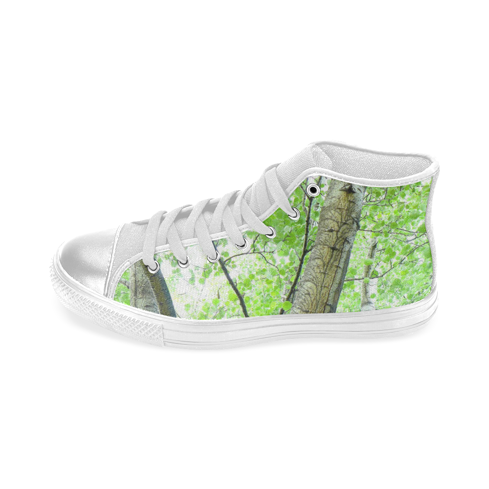 Tree Women's Classic High Top Canvas Shoes (Model 017)