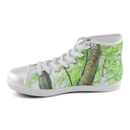Tree Women's High Top Canvas Shoes (Model 002)