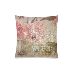 """Vintage carnations for the best mom Custom Zippered Pillow Case 20""""x20""""(One Side)"""