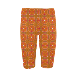 Gingerbread Houses, Cookies, Apple Cider Abstract Hestia Cropped Leggings (Model L03)
