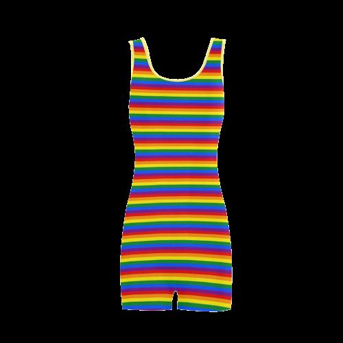 Gay Pride Rainbow Stripes Classic One Piece Swimwear (Model S03)