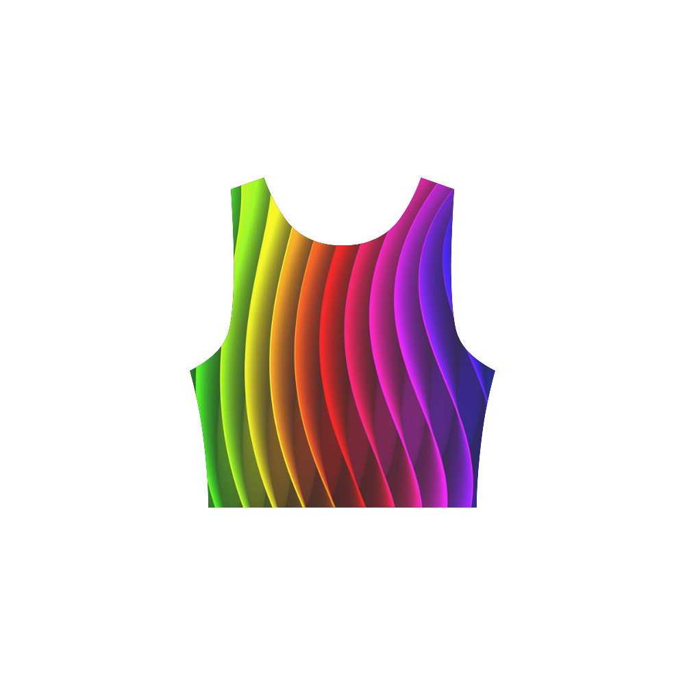 Rainbow Wavy Lines Atalanta Sundress (Model D04)