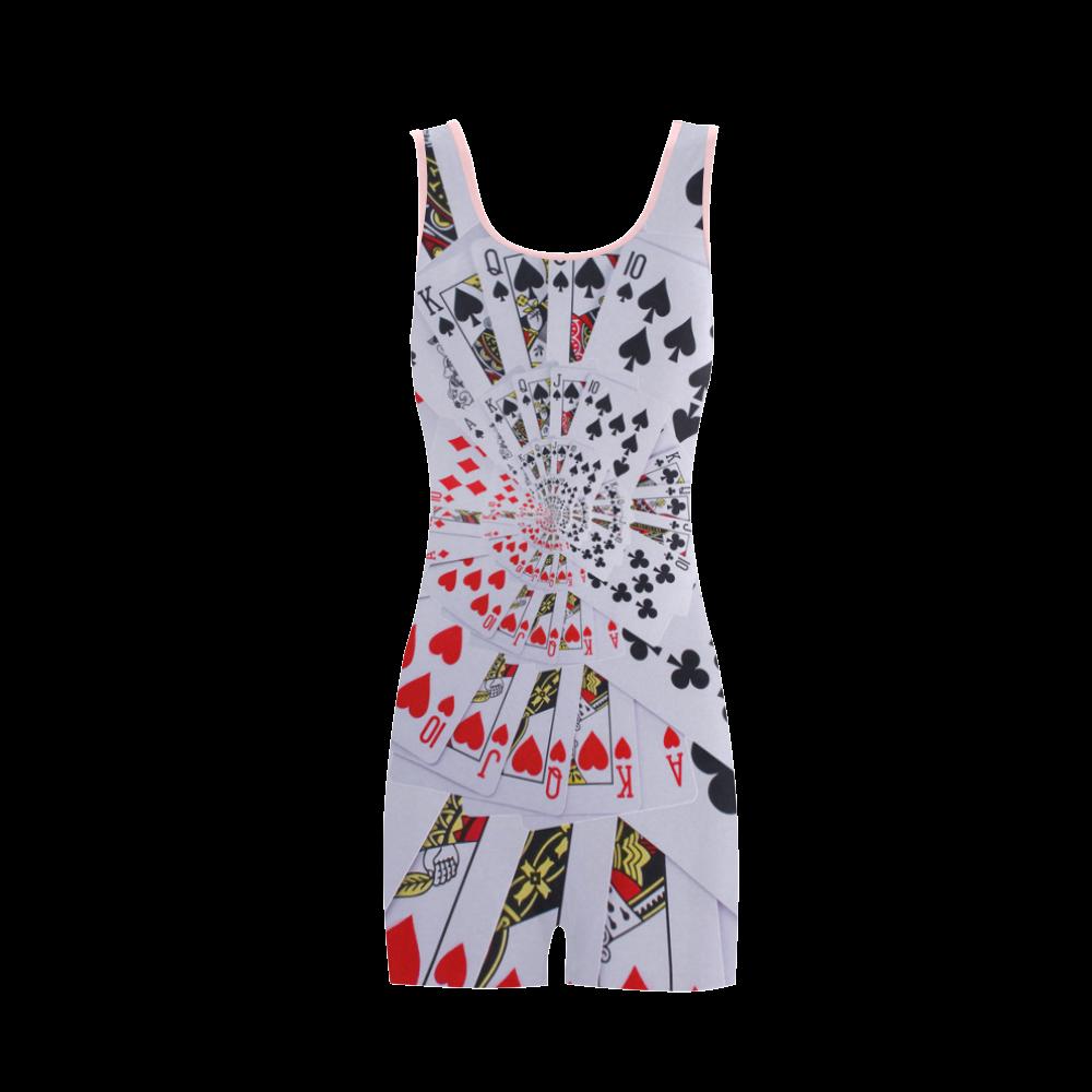 Casino Poker Royal Flush Spiral Droste Classic One Piece Swimwear (Model S03)