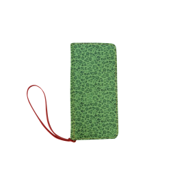 Vintage Flowers Ivy Green Women's Clutch Wallet (Model 1637)