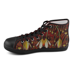 fantasy flowers and leather in a world of harmony Men's High Top Canvas Shoes (Model 002)