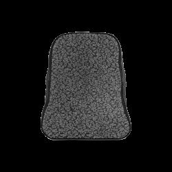 Vintage Floral Charcoal Gray Black School Backpack/Large (Model 1601)
