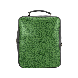 Vintage Flowers Ivy Green Square Backpack (Model 1618)
