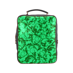 Vintage Swirls Green Square Backpack (Model 1618)