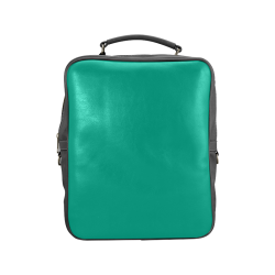 Peacock Green Color Accent Square Backpack (Model 1618)