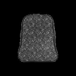 Vintage Floral Charcoal Black School Backpack/Large (Model 1601)