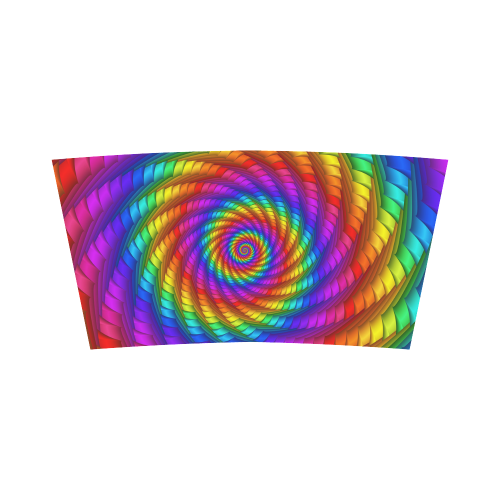 Psychedelic Rainbow Spiral Bandeau Top
