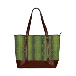 Green Glitter Stripe Tote Handbag (Model 1642)