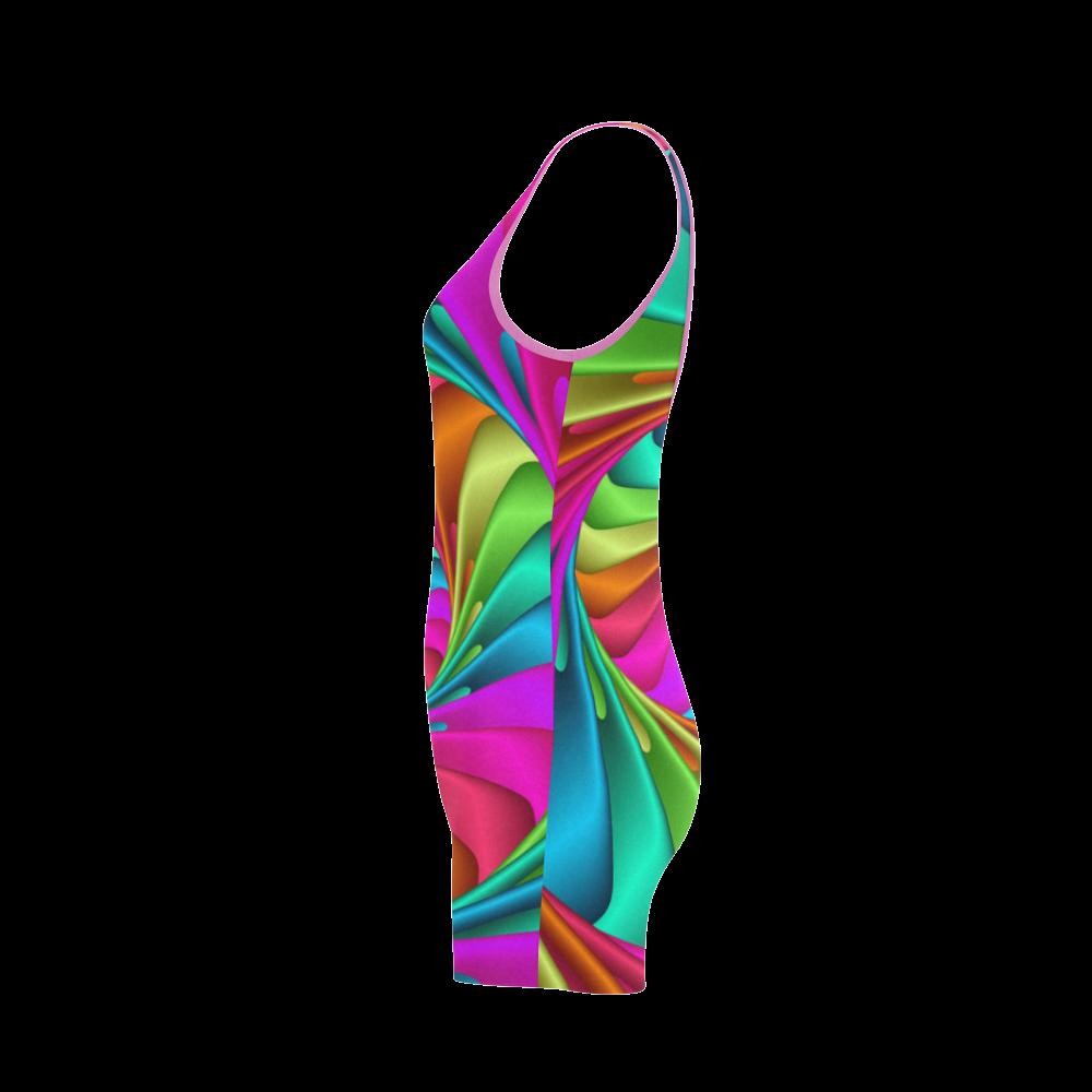 Psychedelic Rainbow Spiral Classic One Piece Swimwear (Model S03)