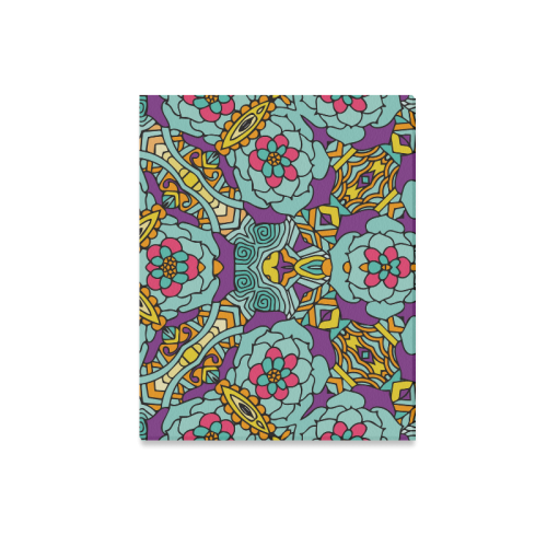 "Mariager-bold flowers,blue,purple,yellow floral Canvas Print 20""x16"""