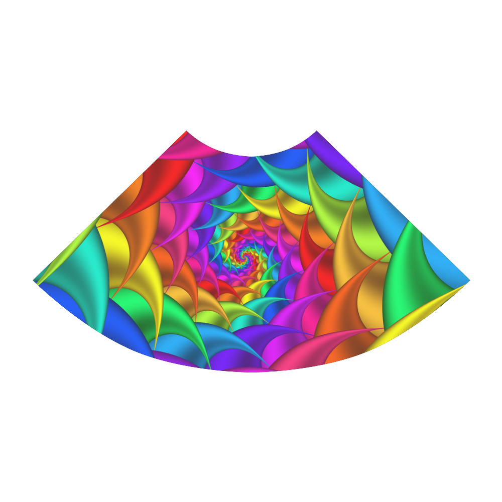 Psychedelic Rainbow Spiral Atalanta Sundress (Model D04)