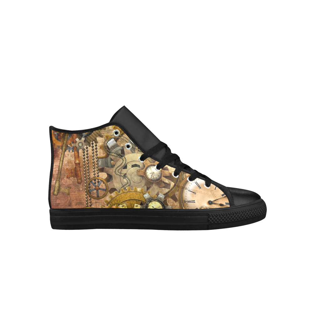 steampunk Aquila High Top Microfiber Leather Women's Shoes (Model 027)