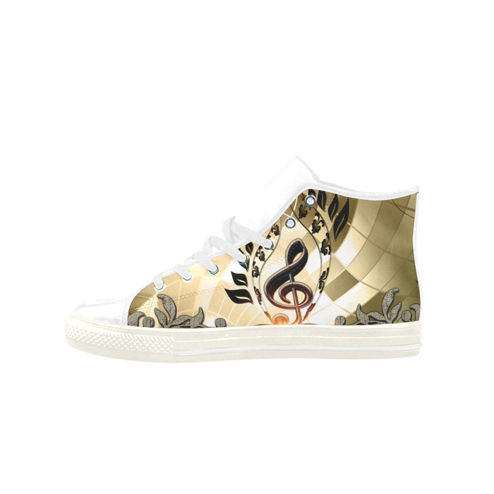 Clef Aquila High Top Microfiber Leather Women's Shoes (Model 027)