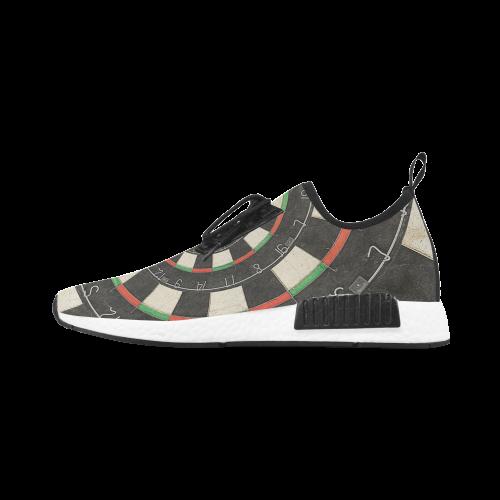Dart Board Spiral Droste Men's Draco Running Shoes (Model 025)