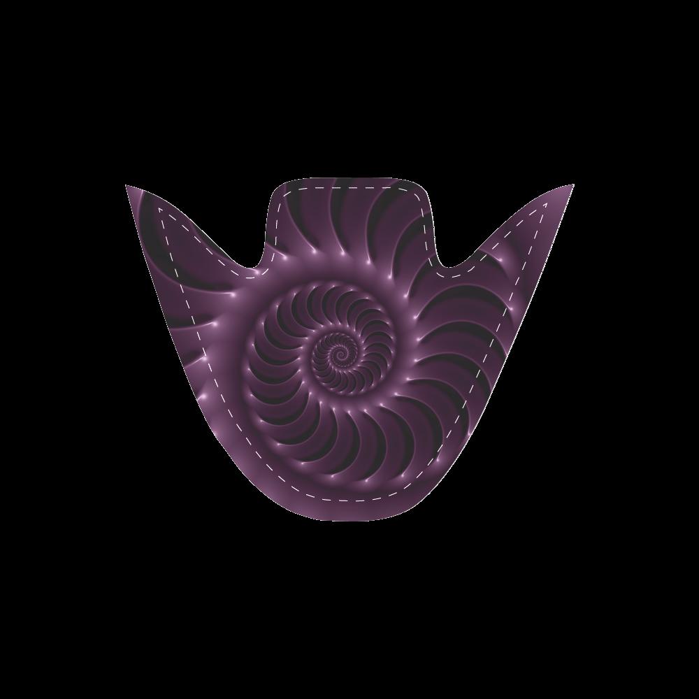 Digital Art Glossy Plum Purple Fractal Spiral Women's Unusual Slip-on Canvas Shoes (Model 019)