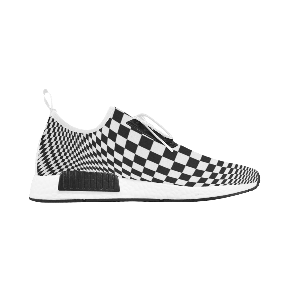 Optical Illusion Checkers Men's Draco Running Shoes (Model 025)