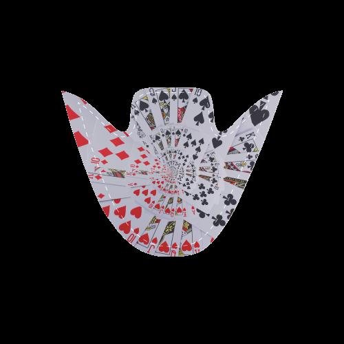 Casino Poker Cards Royal Flush Spiral Droste Women's Unusual Slip-on Canvas Shoes (Model 019)