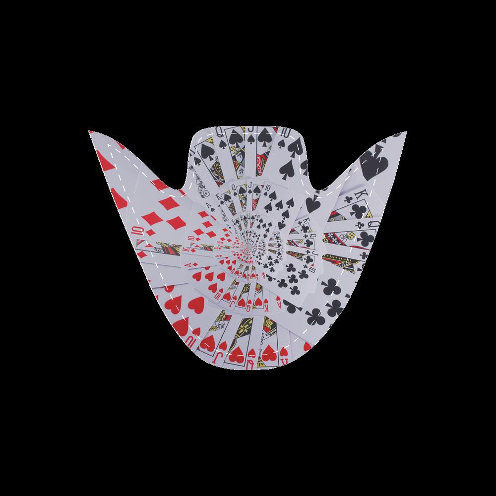 Casino Poker Cards Royal Flush Spiral Droste Men's Slip-on Canvas Shoes (Model 019)